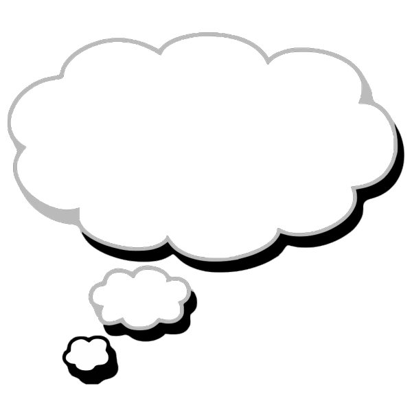 Thought Cloud Blue Th PNG icon
