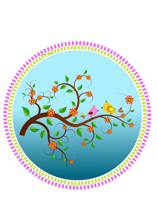 Birds On A Branch2 PNG Clip art