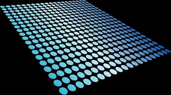 Blue Dots Triskele PNG Clip art