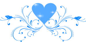 Blue Butterfly Scroll PNG Clip art