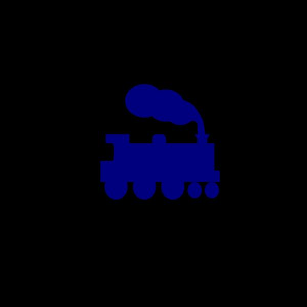 Blue Train Silhouette PNG Clip art