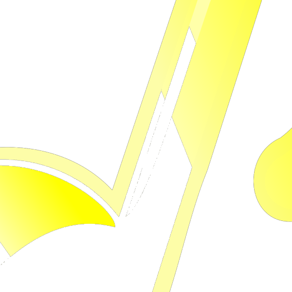 Blue Yellow Music Note PNG image