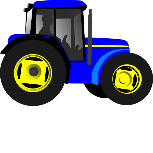 Blue Tractor PNG clipart