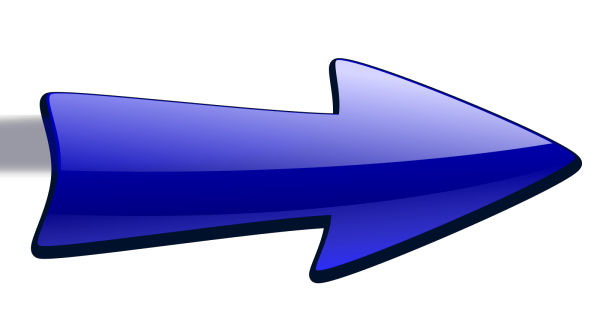 Blue Arrow Curved  PNG Clip art