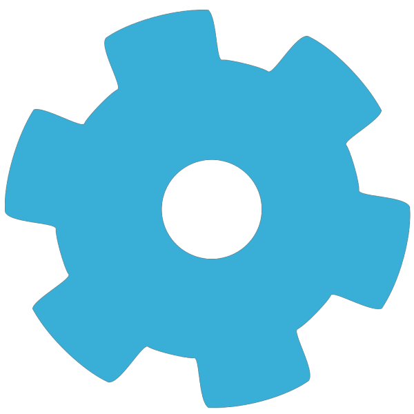 Blue Gear Wheel PNG Clip art