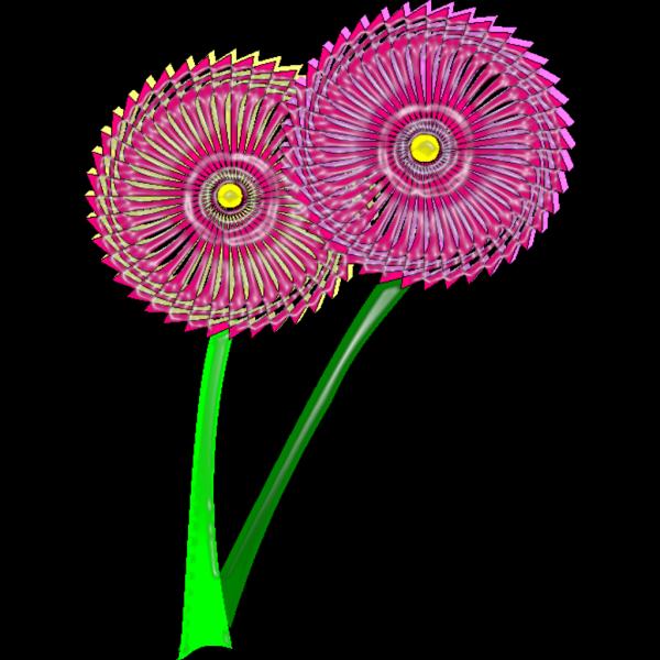 Blue Purple Flowers Design PNG Clip art