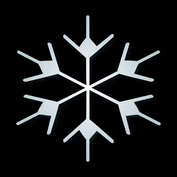 Blue Snow Flake PNG Clip art