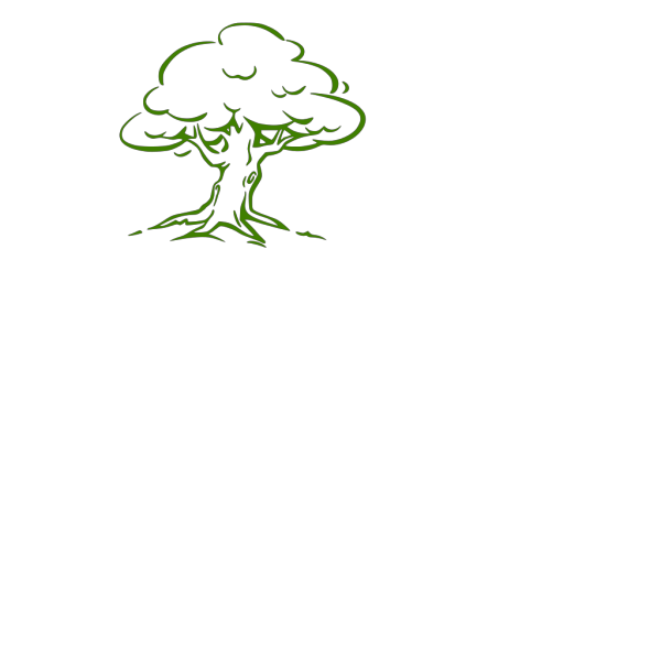 Green Tree Silhouette PNG Clip art