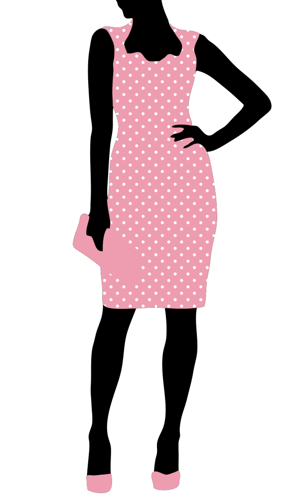 Bunny Polka Dot Silhouette PNG Clip art