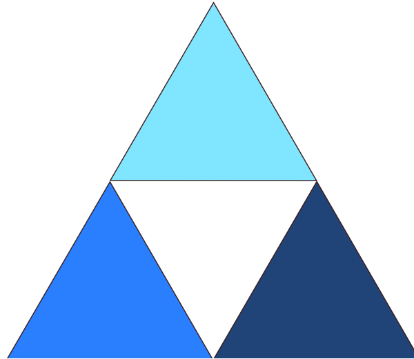 Blue Triangle PNG Clip art