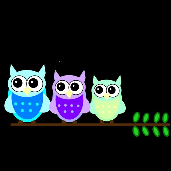 Owl Family PNG Clip art