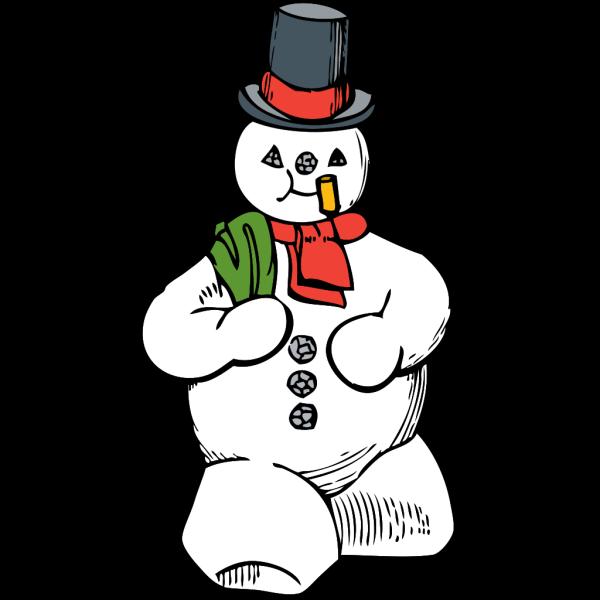 Blue Snowman PNG icon