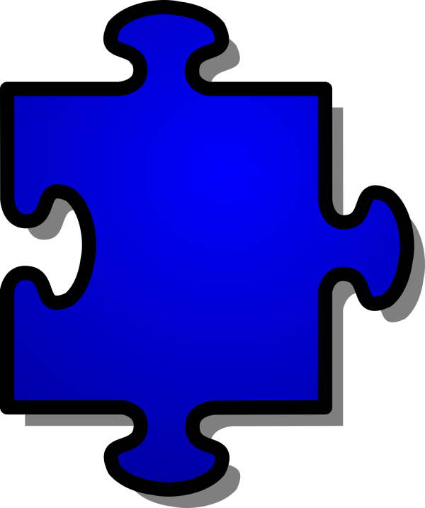 Pink-blue Puzzle Piece - Small PNG Clip art