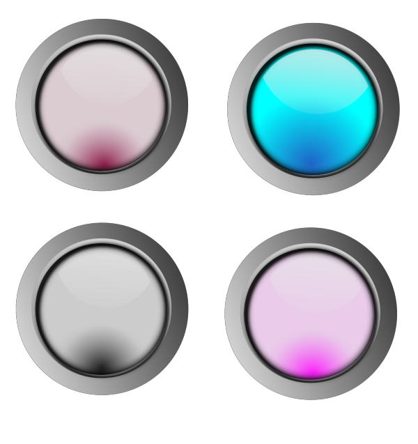 Glossy Web Buttons Icons PNG Clip art