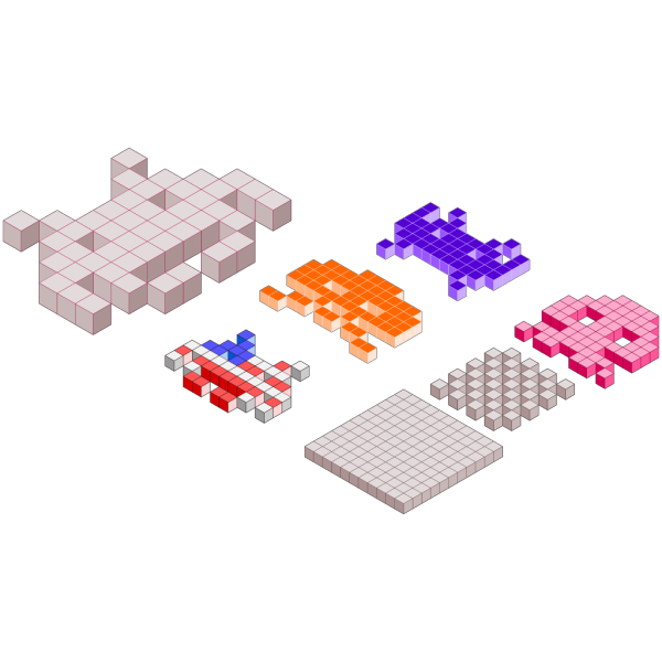 Space Invaders 3d Blocks PNG images