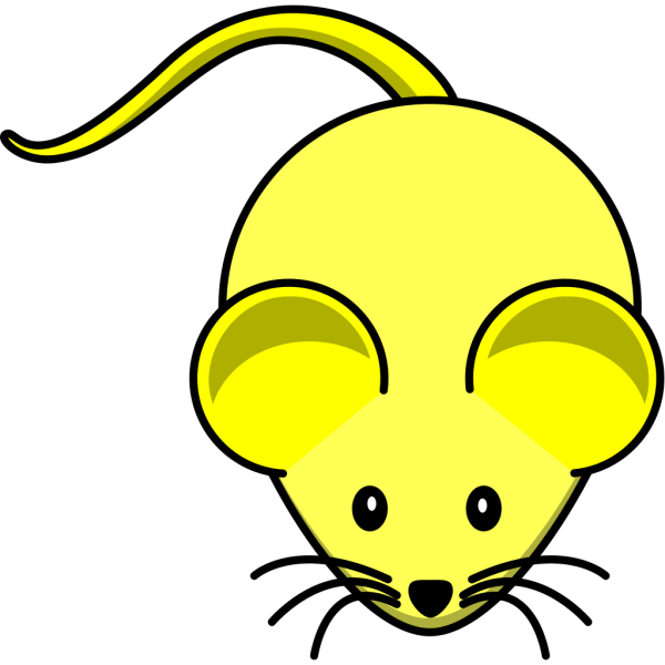 Yellow Mouse Blue Tail PNG Clip art