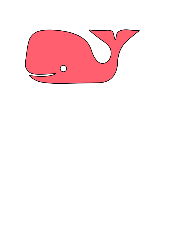 Red Whale, Blue Water PNG Clip art