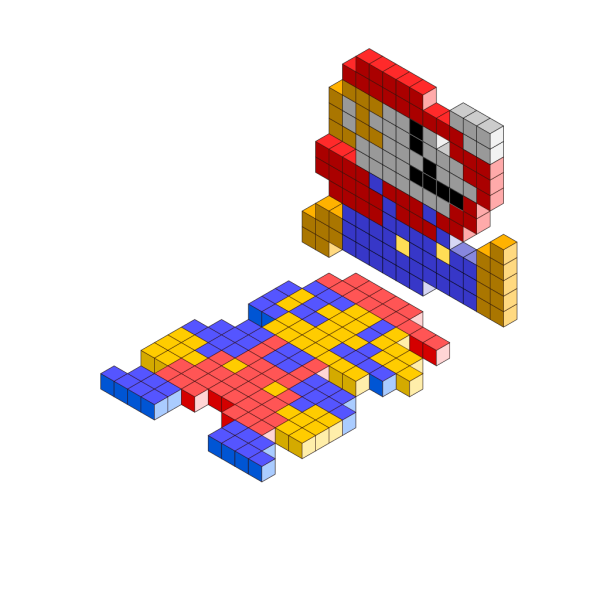Mario Bros 3d Blocks PNG images