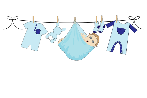 Cool Baby Blue PNG Clip art