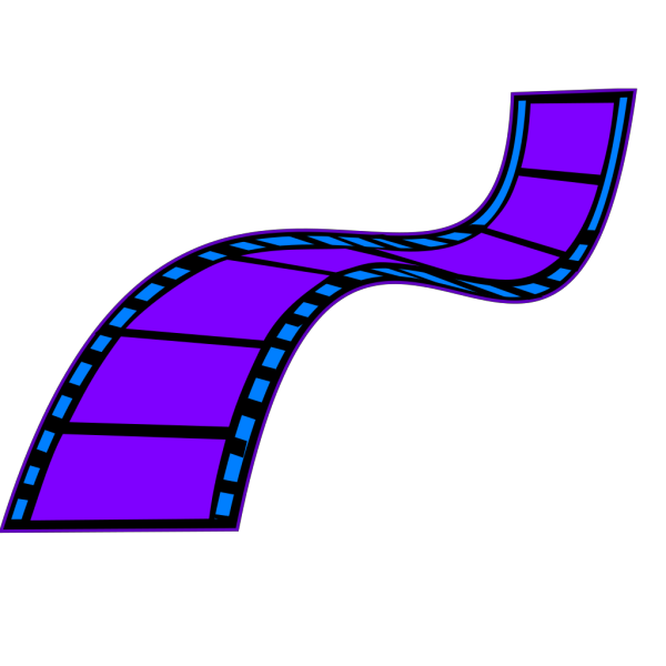 Sky Blue Film Strip PNG Clip art