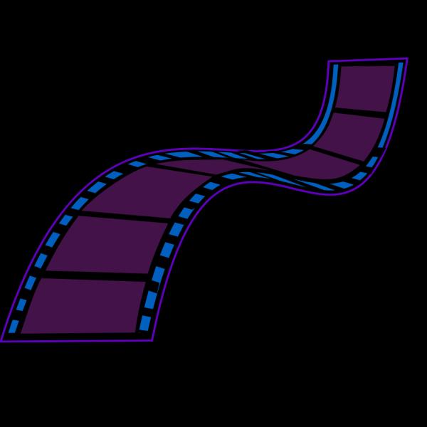 Dark Blue Film Strip PNG Clip art