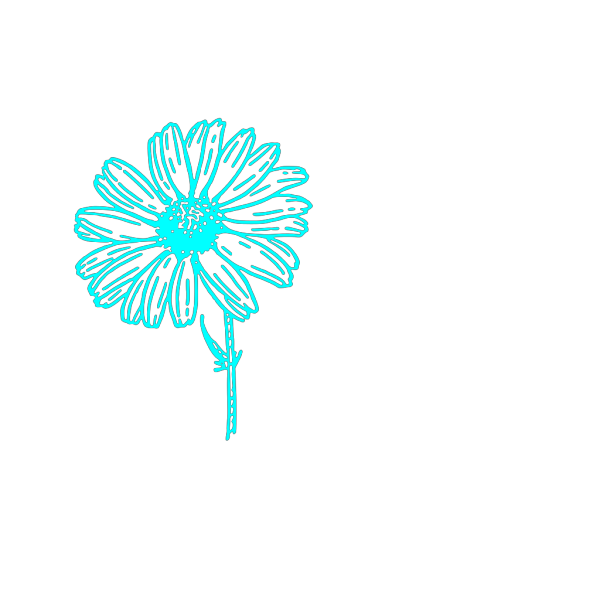 Blue Daisy White Center PNG Clip art