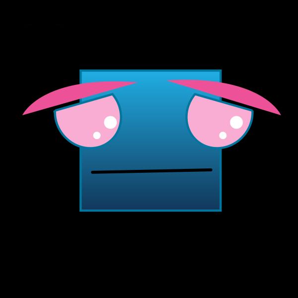 Blue Sad PNG Clip art