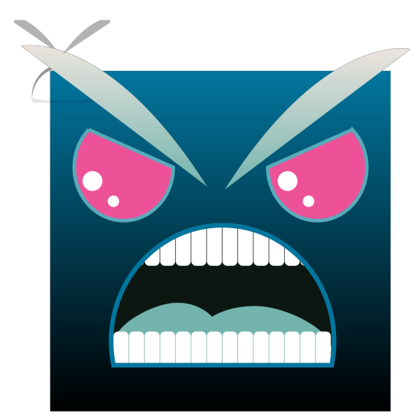 Blue Angry PNG Clip art