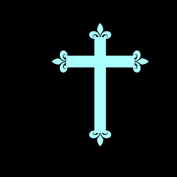 Fleur De Lis Cross Blue PNG Clip art
