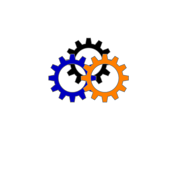 High Resolution Gear Blue PNG Clip art
