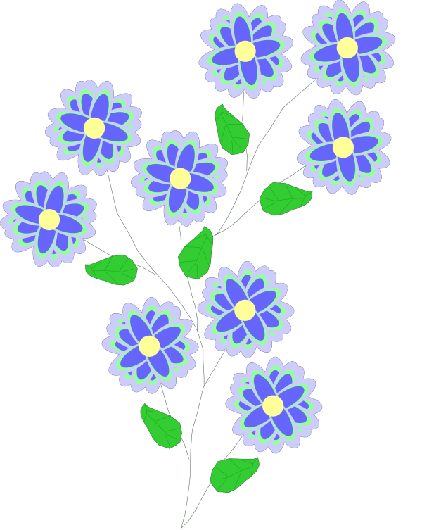 Bunting Blue Green PNG Clip art