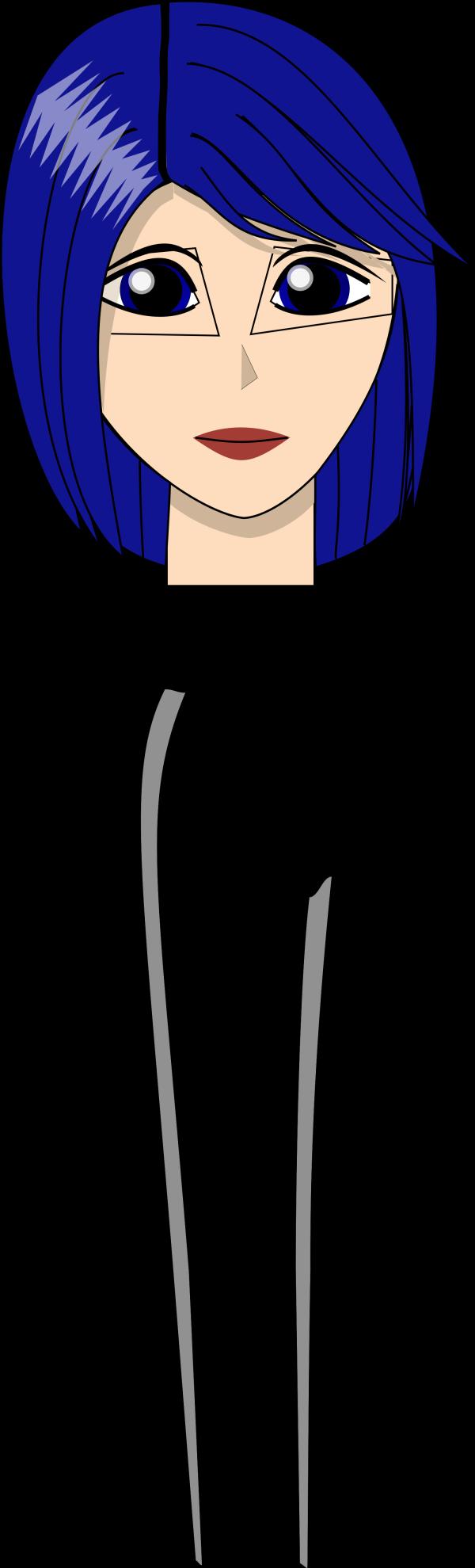 Blue Cartoon Left Foot PNG Clip art