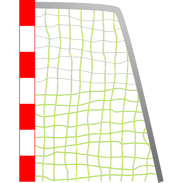 Red Soccer Goal Net, Blue Lines PNG Clip art