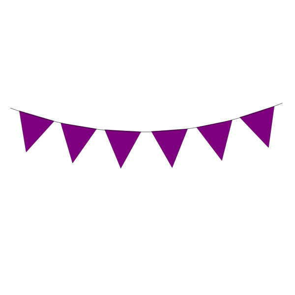 Blue Deep Purple Bunting PNG Clip art