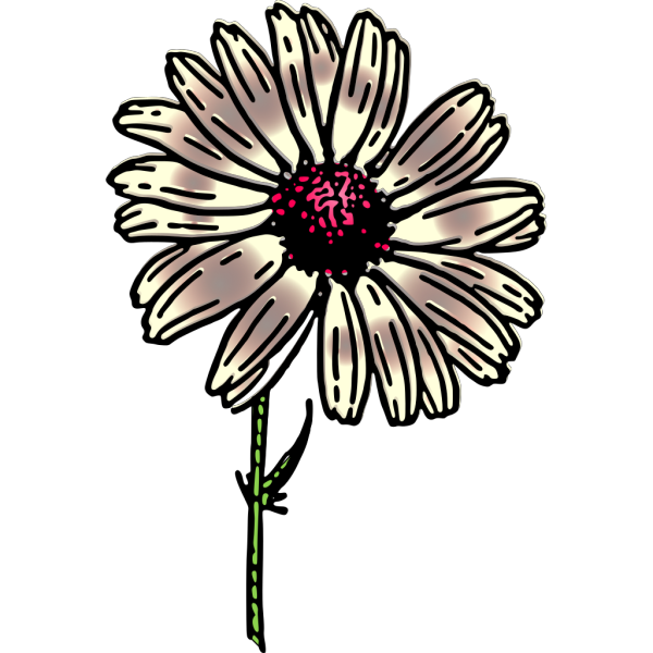 Blue Daisy PNG clipart