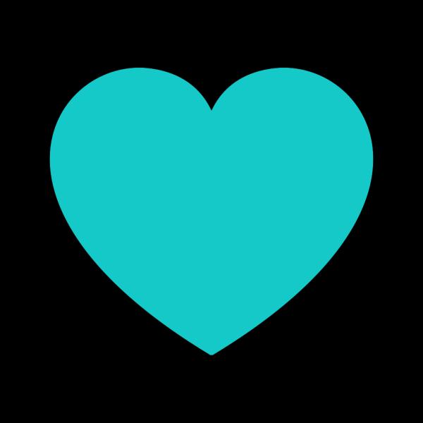 Teal Heart PNG Clip art
