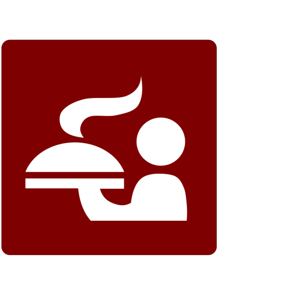 Hotel Icon Room Service Clip Art - Red/white PNG images