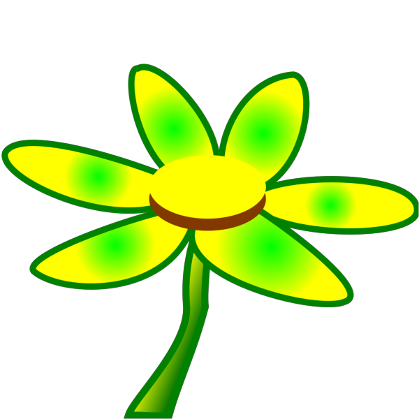 Blue Green Flower PNG Clip art