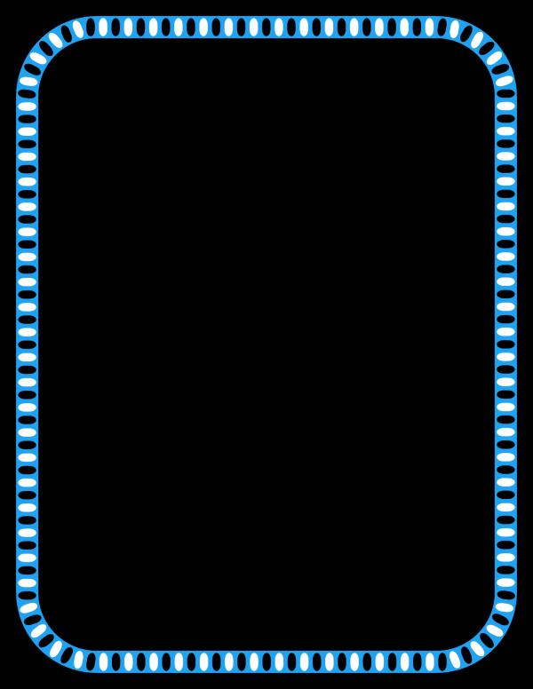 Border Bleu Line PNG Clip art