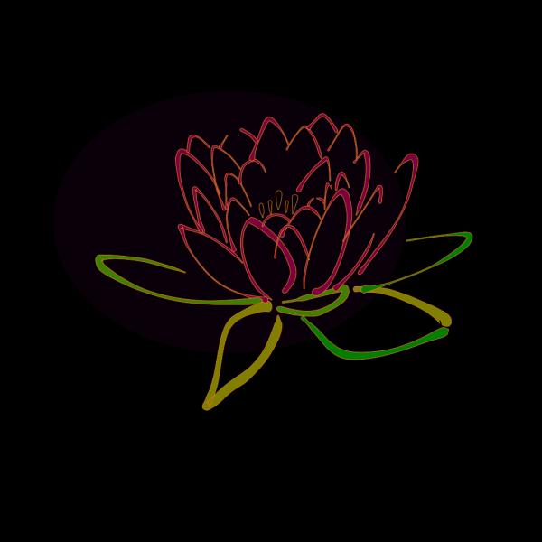 Blue Lotus Blk Outline Hi PNG Clip art