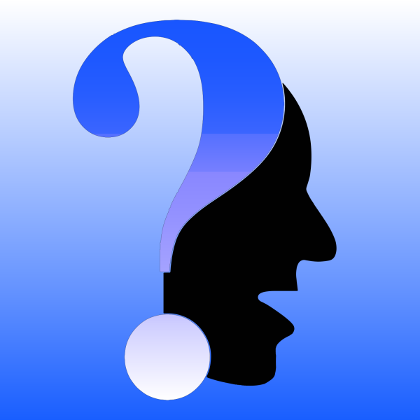 Question Mark Blue By Cj PNG clipart