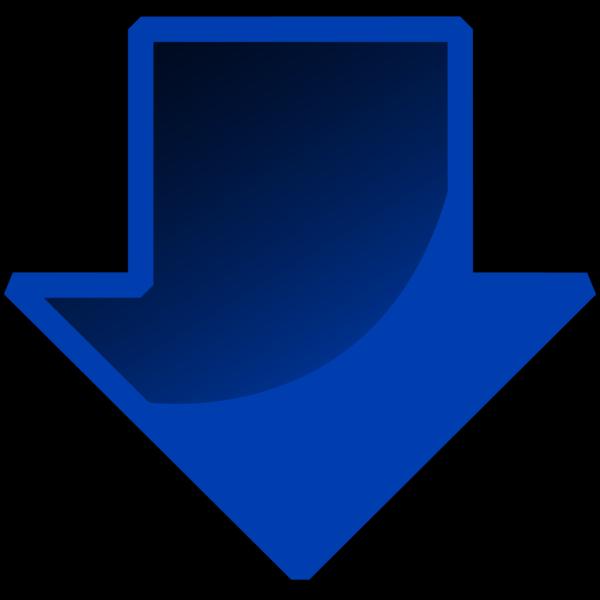Button Blue Down Arrow PNG Clip art