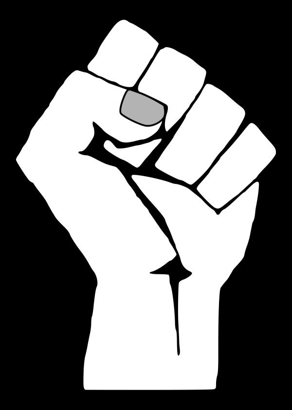 Blue Fist PNG Clip art