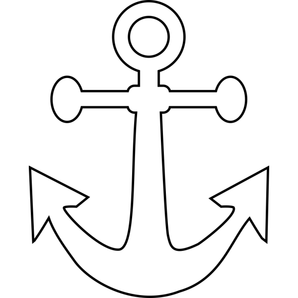 White Anchor PNG Clip art