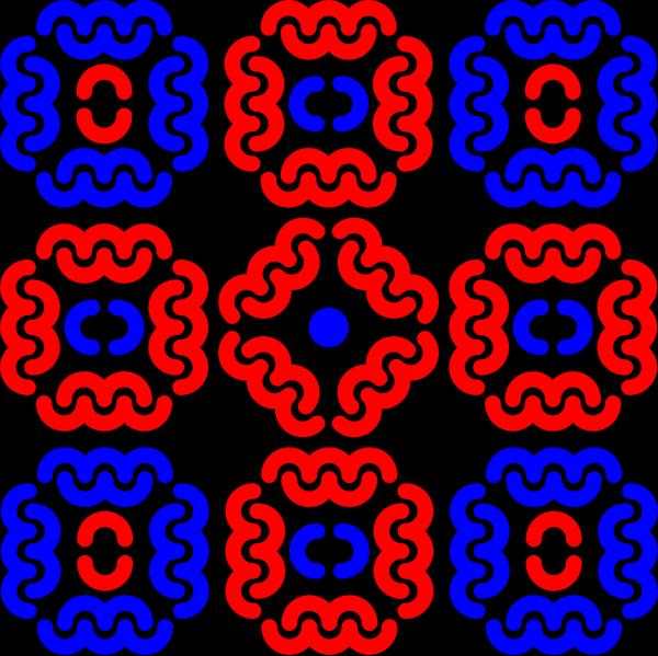 Paisley Curves Blue PNG Clip art
