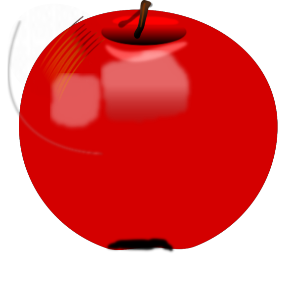 Blue Circle Apple PNG Clip art