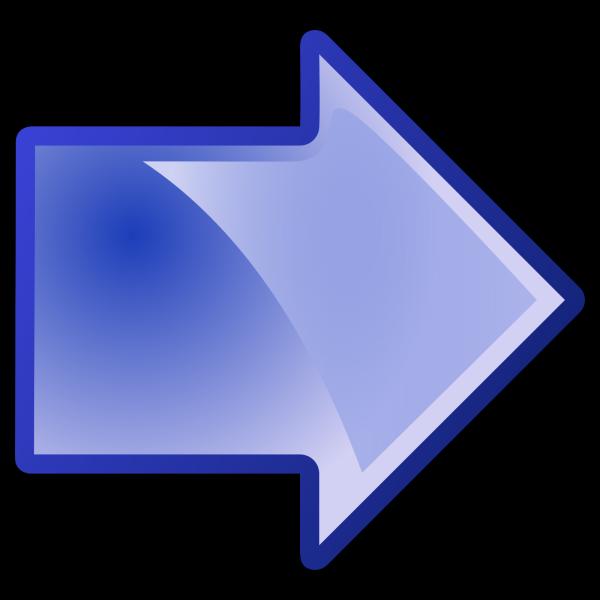 Blue Arrow Chart PNG Clip art