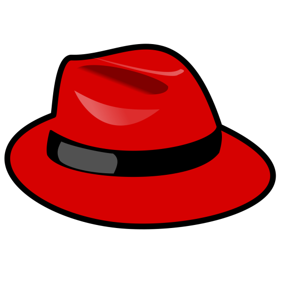 Blue Stars On Red Thinking Hat PNG Clip art