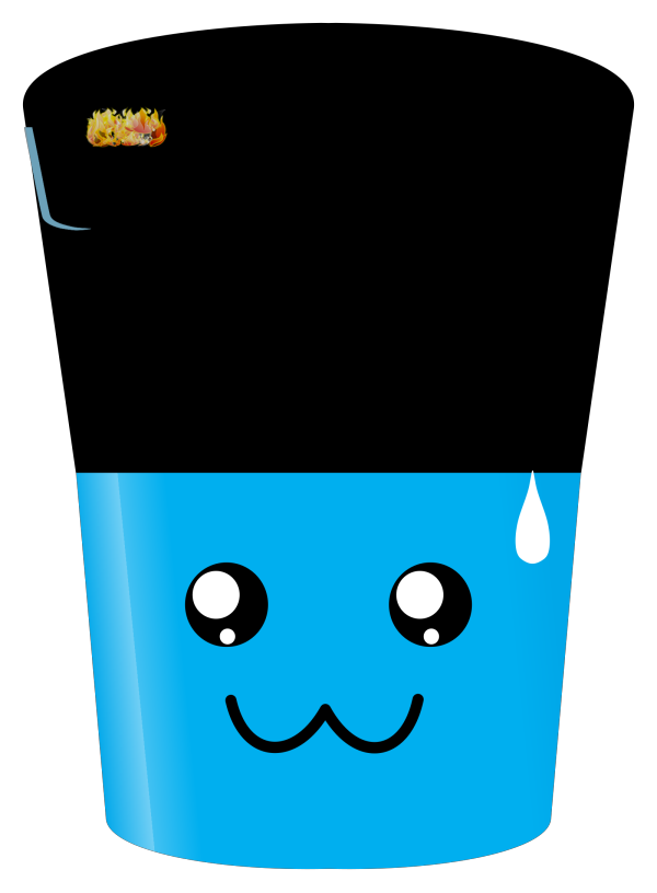 Blue Hot Chocolate Cup PNG Clip art