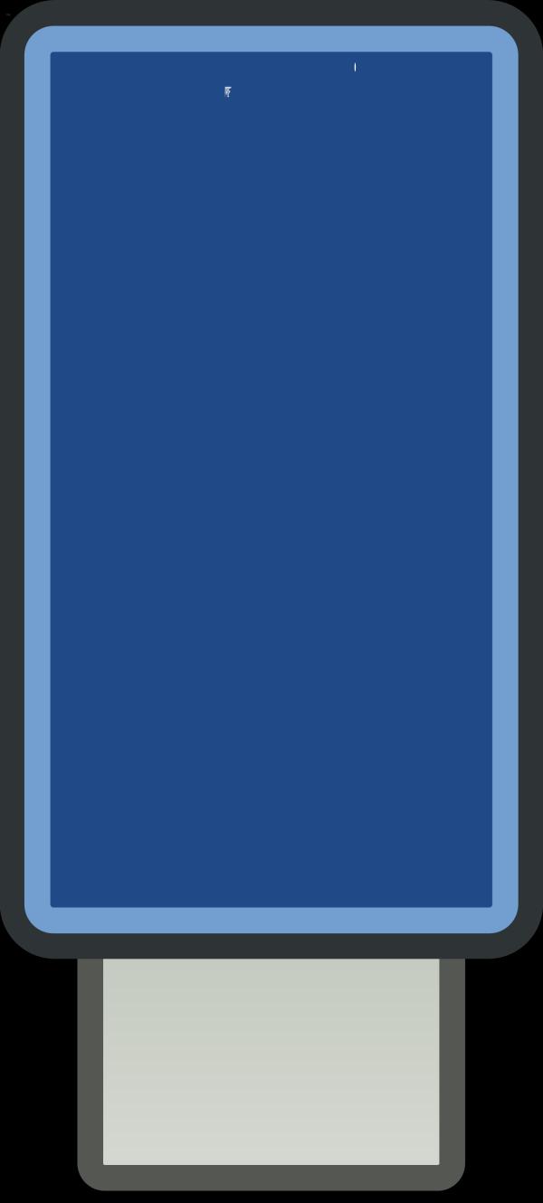 Big Blue Divider - Small PNG Clip art